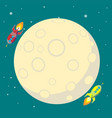 space travel to the moon space rocket launch vector image