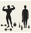 Sportsman and alcoholic vector image vector image