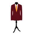Suit on mannequin vector image vector image