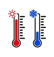 The thermometer icon High and Low temperature vector image vector image