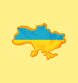 ukraine - map colored with ukrainian flag vector image vector image
