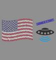 united states flag mosaic alien invasion