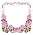 Vintage frame with pink peonies vector image vector image