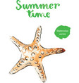 watercolor starfish vector image vector image