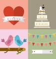 Wedding accessories Set III vector image vector image
