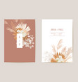 wedding dried lunaria orchid pampas grass floral vector image vector image