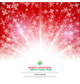 winter red background christmas made of vector image vector image