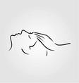 Woman receiving spa treatment vector image vector image