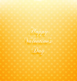 Yellow Valentines Card vector image vector image