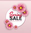 spring sale floral advertizing poster board vector image