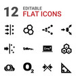 12 formula icons vector image vector image