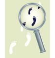 abstract footprints vector image vector image