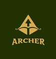 archer symbol letter a initial vector image