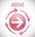 Arrow design vector image vector image