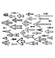 arrow pointers hand-drawn sketch vector image vector image