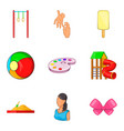 babycare product icons set cartoon style vector image vector image