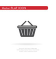 basket icon for web business finance and vector image vector image