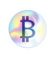 bitcoin sign vector image vector image