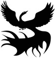 Black and white Firebird Logo vector image