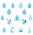 blue droplet icon vector image vector image