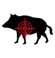 Boar crosslines vector image vector image