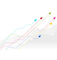 bright growing financial graph design with arrows vector image vector image