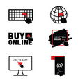 buy online shopping icon set vector image vector image