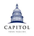capitol logo design vector image vector image