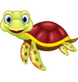 cartoon baby cute turtle vector image