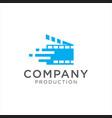 cinema logo movie emblem template vector image vector image