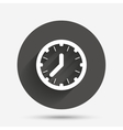 Clock time sign icon Mechanical watch symbol vector image vector image