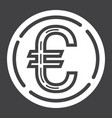 Coin euro glyph icon business and finance money vector image