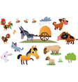 Collection of farm animals vector | Price: 3 Credits (USD $3)