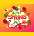 colorful spring sale background with paper cut vector image vector image