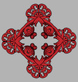 colorized hand drawn ornament vector image vector image