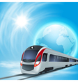 Concept background with high-speed train vector image