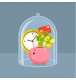 Concept for saving time and money vector image vector image