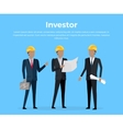 Construction Investor banner vector image vector image