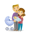 Couple with baby vector image vector image