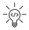 creative line icon idea and innovation vector image vector image
