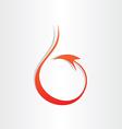 Devil tail stylized icon