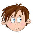 face of boy vector image vector image