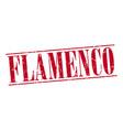 flamenco red grunge vintage stamp vector image vector image