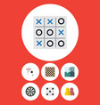 flat icon play set of ace jigsaw people and vector image vector image