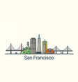 flat line san francisco banner vector image vector image