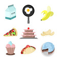foody drawing graphic set vector image