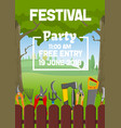 gardening party gardener festival vector image vector image