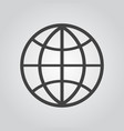 globe icon flat on gray background vector image vector image