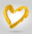 golden heart vector image vector image