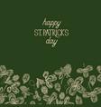 green st patricks day decorative card vector image